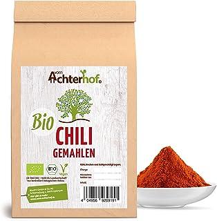 Chili Pulver BIO 500g rot scharf aus getrockneten Chilischoten fein gemahlen Chilipulver vom-Achterhof
