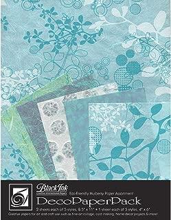 Black Ink DP-703 Decorative Paper Pack, Chinaberry - Aqua