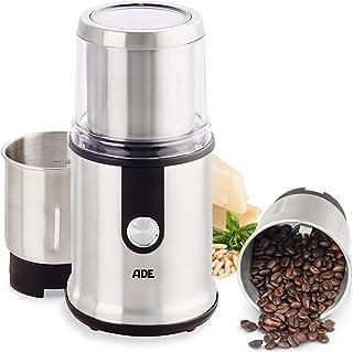 ADE KA1805 kaffekvarn elektrisk för espresso coffee grinder kryddkvarn nötkvarn spannmålkvarn (kvarn elektrisk 2 slipbehål...
