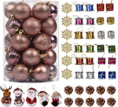 MyGeek 79 Pcs Christmas Tree Ornaments Set, Shatterproof Christmas Ball Xmas Seasonal Decorations for Christmas Tree