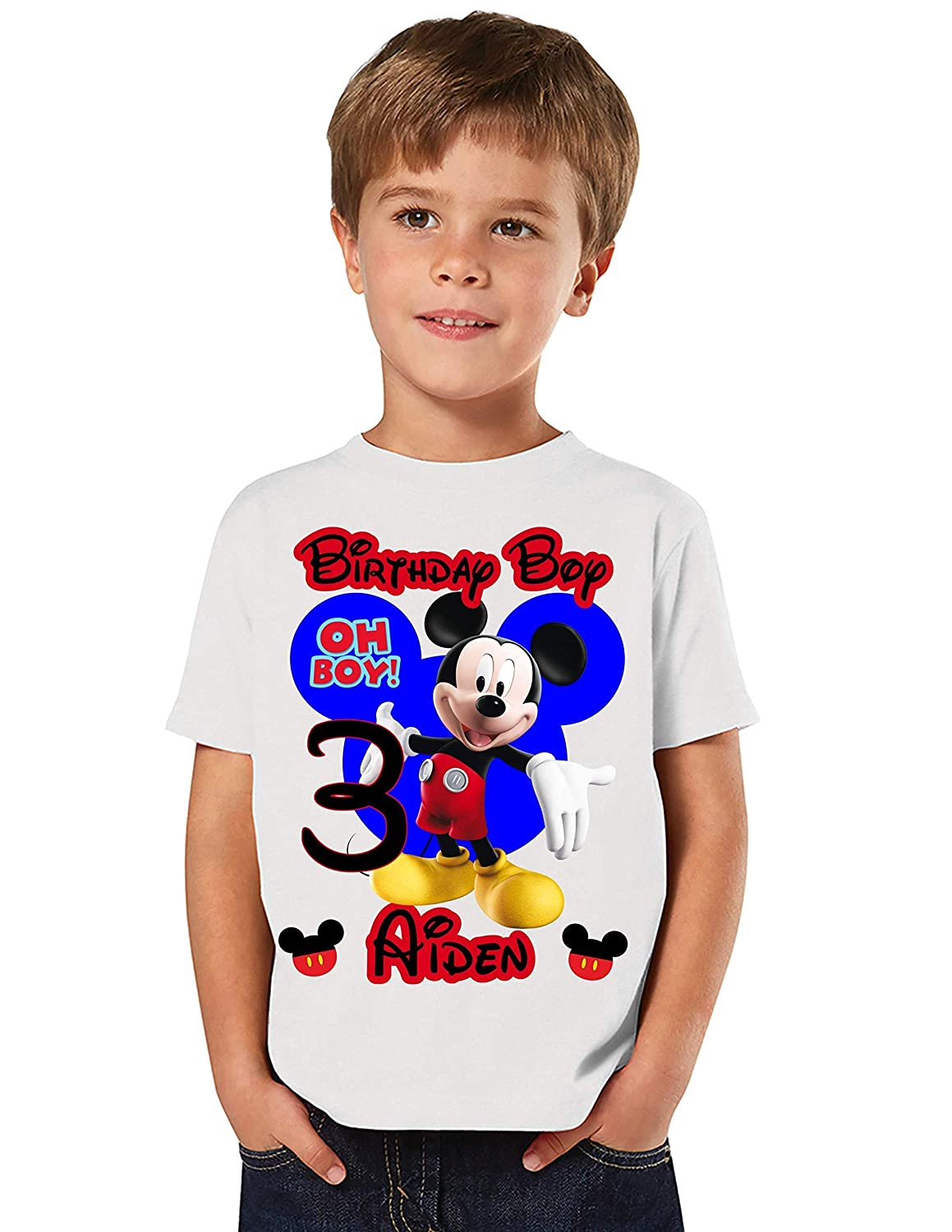 Mickey Birthday Shirt Add Any Name and Matching Shi Challenge the lowest price of Japan ☆ Age Year-end gift Family