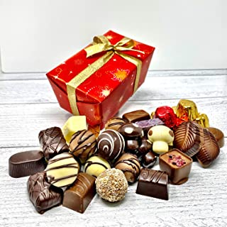 """Marky's Chocolate Holiday Assorted Gift Box – 1.5 lbs – Belgium Choco Box """"Assorted"""" – Assortment Basket Christmas Thanksgiving Corporate Gourmet Gift"""