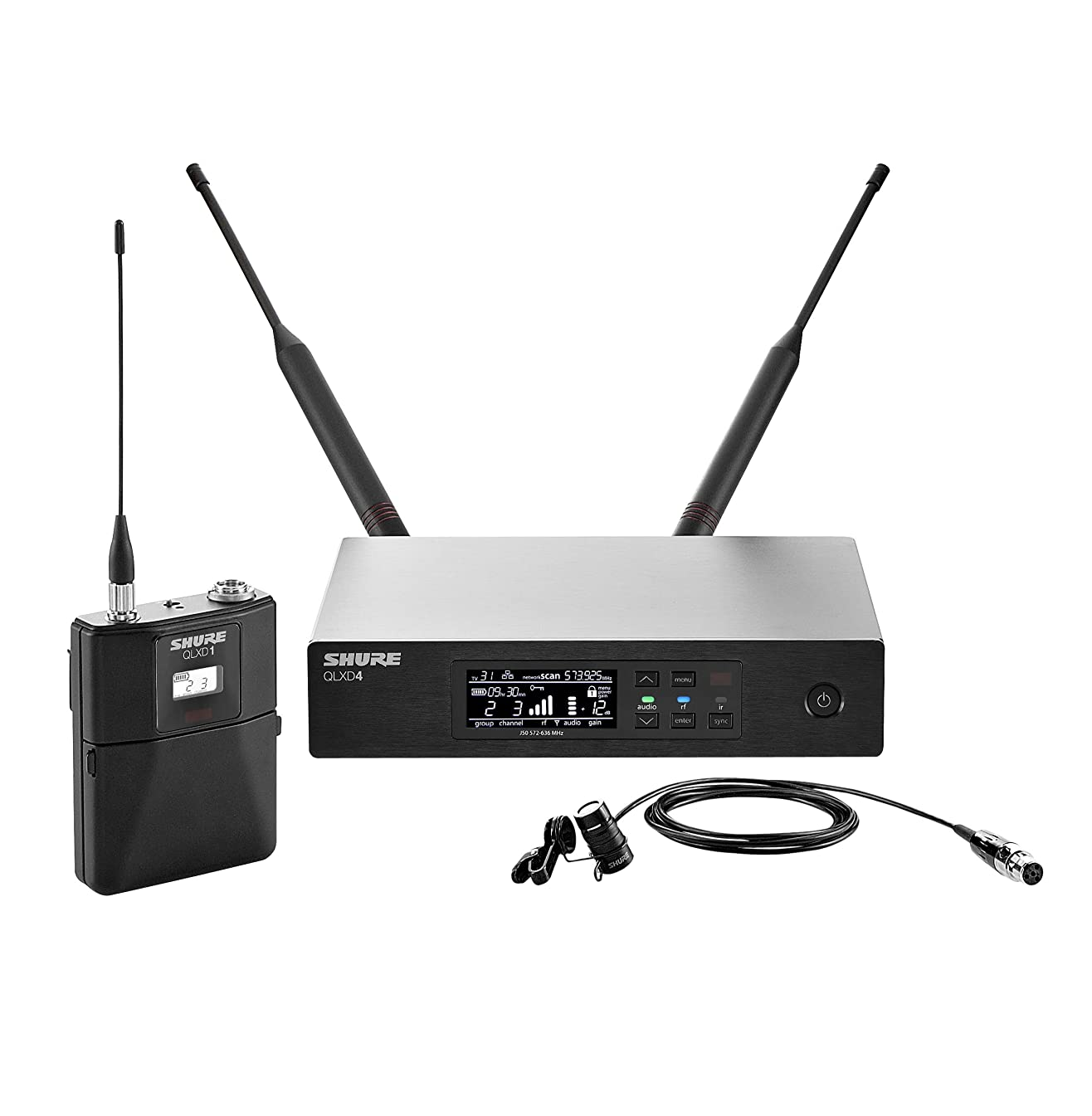 Shure QLXD14/84 Wireless System with WL184 Supercardioid Lavalier Microphone, H50