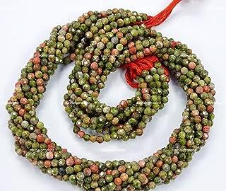 Unakite Beads AAA - Cuentas redondas de 3 mm de calidad AAA de Unakite (13 pulgadas), cuentas de piedras preciosas sueltas...