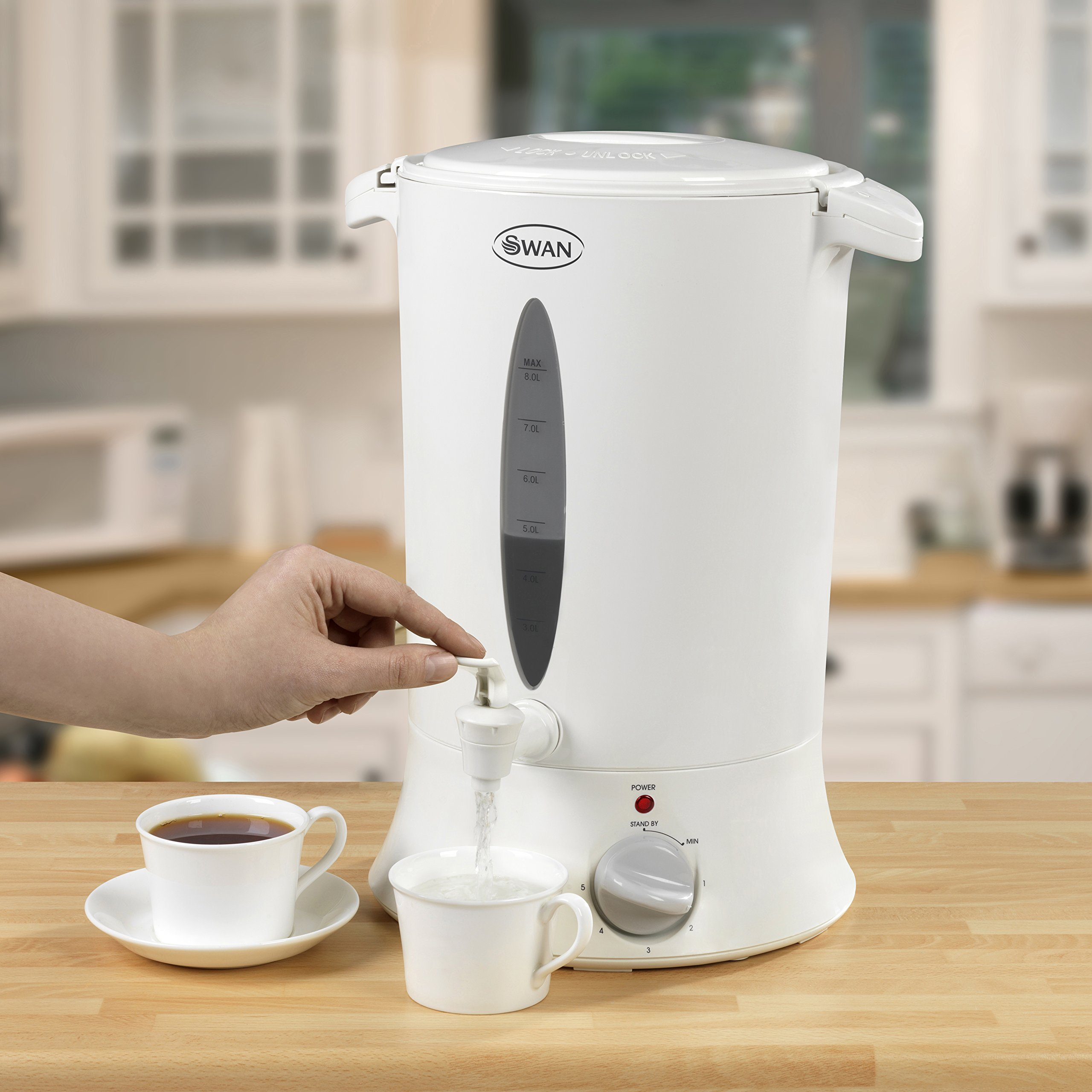 Swan SWU8P Commercial Plastic Water Urn 8L White