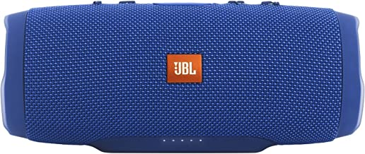 JBL Charge 3 Waterproof Bluetooth Speaker -Blue (Renewed)