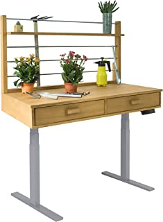 Vifah V1710 Grey Frame Sit to Stand Adjustable Height Potting Bench