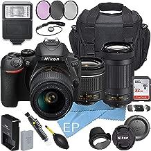 $629 » Nikon D5600W/AF-P DX NIKKOR 18-55mm f/3.5-5.6G VR + NikonAF-P DX NIKKOR 70-300mm f/4.5-6.3G ED Lens + Accessory Bundle (20pc Bundle)