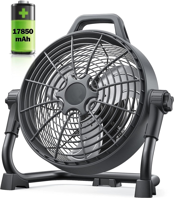 Rechargeable Floor Fan 17850mAh i 格安激安 Portable Battery 完売 Outdoor