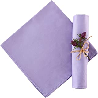 KOFFOTA 100% Cotton Cloth Napkins for Dinner Set of 12 | 18x18 Spring Napkins, Easter Table Decorations,Washable Duarble E...