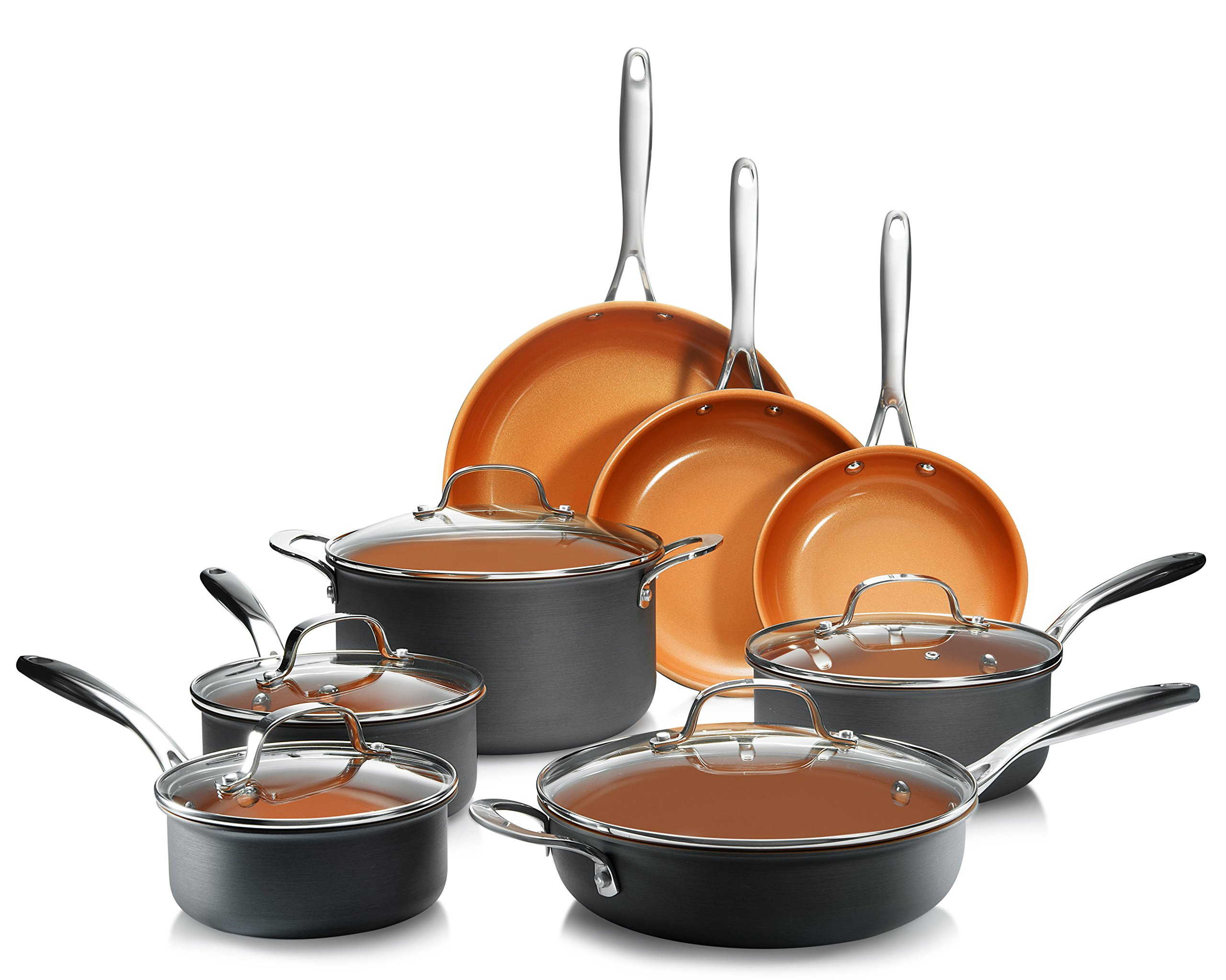 Anodized Cookware Nonstick Ti Cerama Coating
