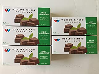FRESH and NEW - 5 Boxes - World's Finest Chocolate -Mint Meltaways (2.3OZ)
