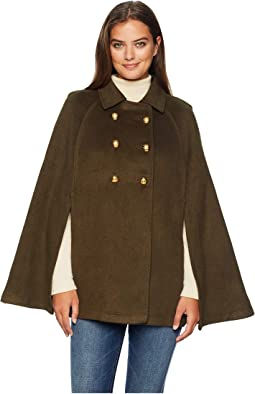 Pleat Back Military Cape