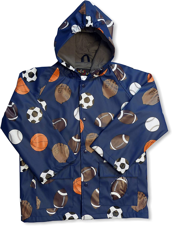 Foxfire For Kids Navy Sports Soccer Football Baseball Basketball Raincoat Size