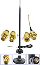Universal Kit Dual Band Wi-Fi 9dbi Booster Long Range Omni Directional 2.4/5Ghz Antenna RP-SMA Male Connector on Magnet Base with connectors and Extenders