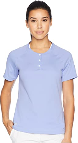 climachill® Collarless Short Sleeve Polo