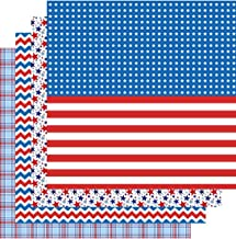 American Flag Patterned Vinyl, 4th of July, Patriotic, Red White Blue, 4-12
