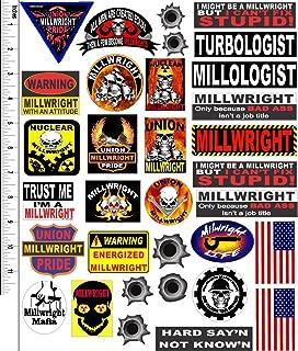 millwright hard hat stickers