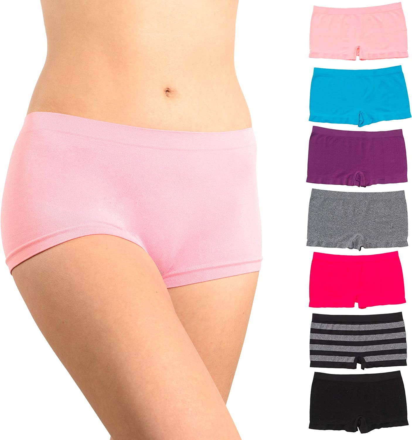 Alyce Intimates Pack of 7 Seamless No Boyshort Hipst Womens Free Free Shipping New shipping Show