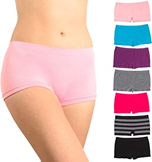 Alyce Intimates Women's Seamless Boyshort Hipster Panty, Pack of 7
