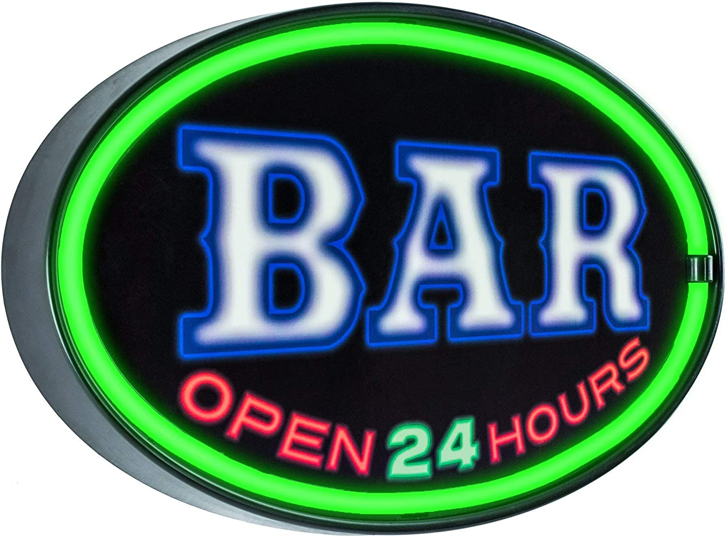American Art Decor Bar Open Soldering 24 Hours Louisville-Jefferson County Mall Light Si Shaped LED Oval Up