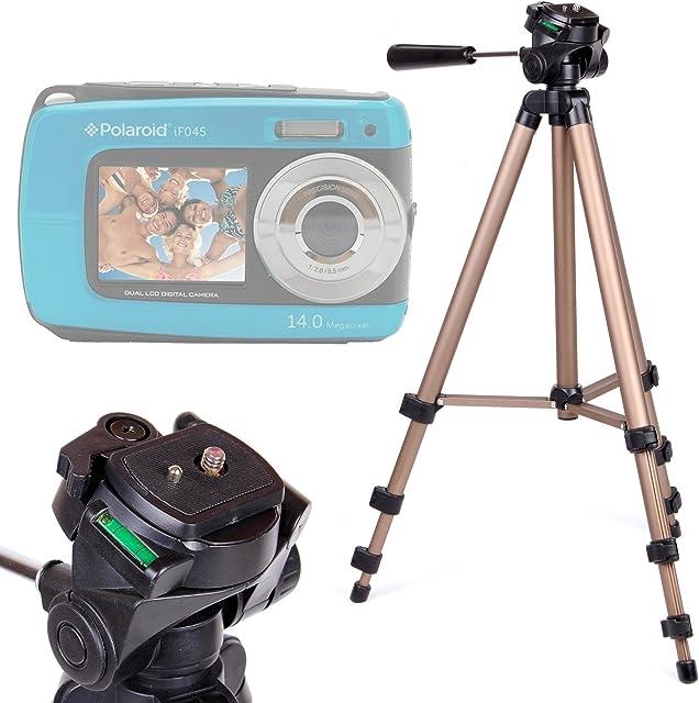 DURAGADGET Trípode con Nivel De Burbuja para Cámara compacta Polaroid IF045 | Sony DSC-W810 | Fujifilm XP90 | Canon PowerShot SX620 HS - Profesional