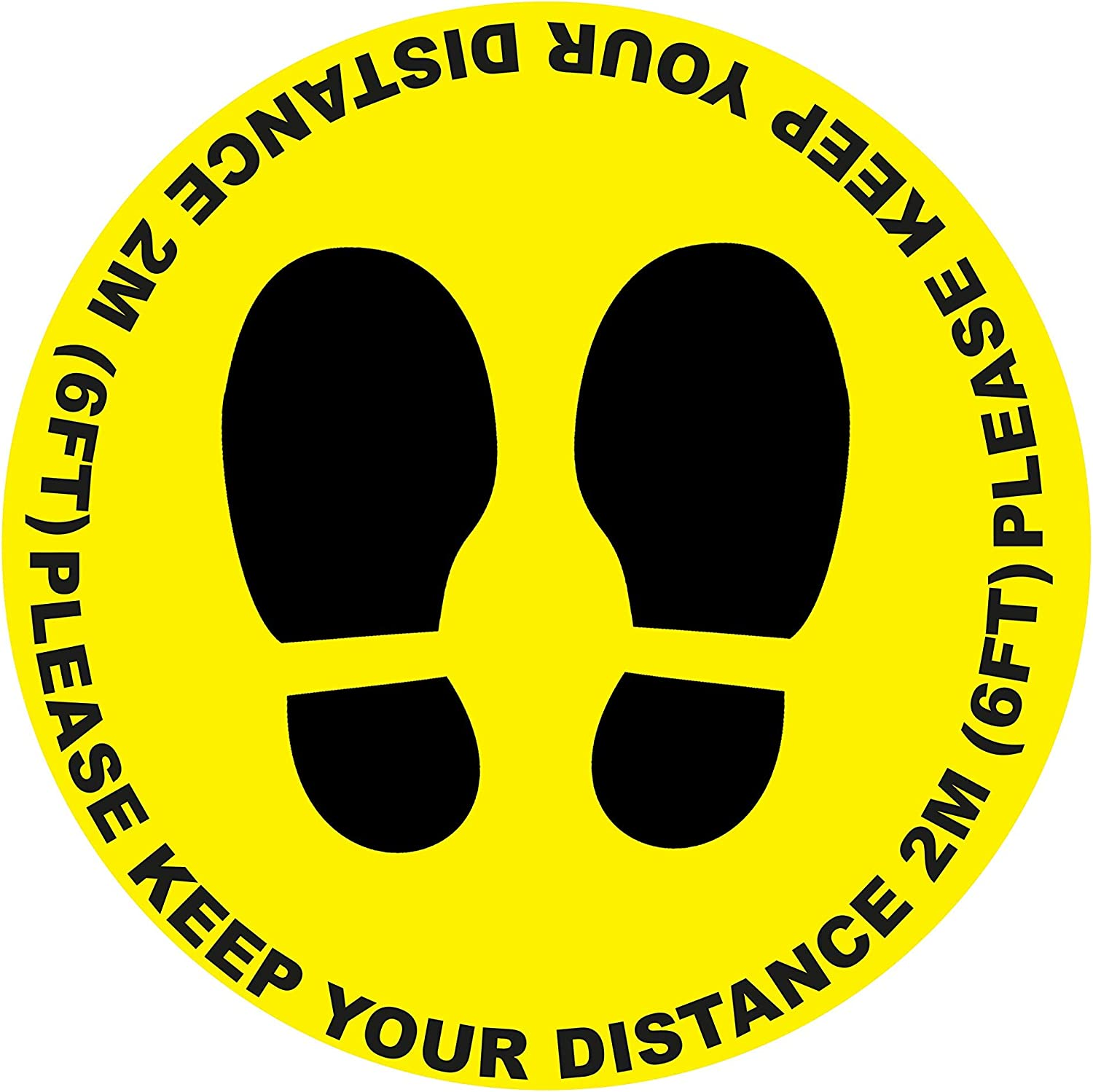 5 67% OFF of fixed price X Atlanta Mall Please Keep Your Distance Sticker - Sign Self Circle Warning