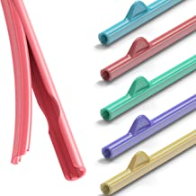 Rain Straw - Easy Clean Reusable Drinking Straws That Snap Open for Easy Cleaning - No Cleaning Brush or Cleaner Needed - ...