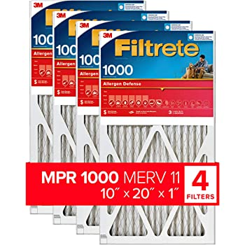 Nordic Pure 12x20x1 11/_3//4x19/_3//4 MERV 10 Pleated AC Furnace Air Filters 4 Pack