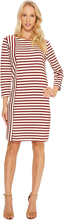 Breton Stripe Combo Shift Dress