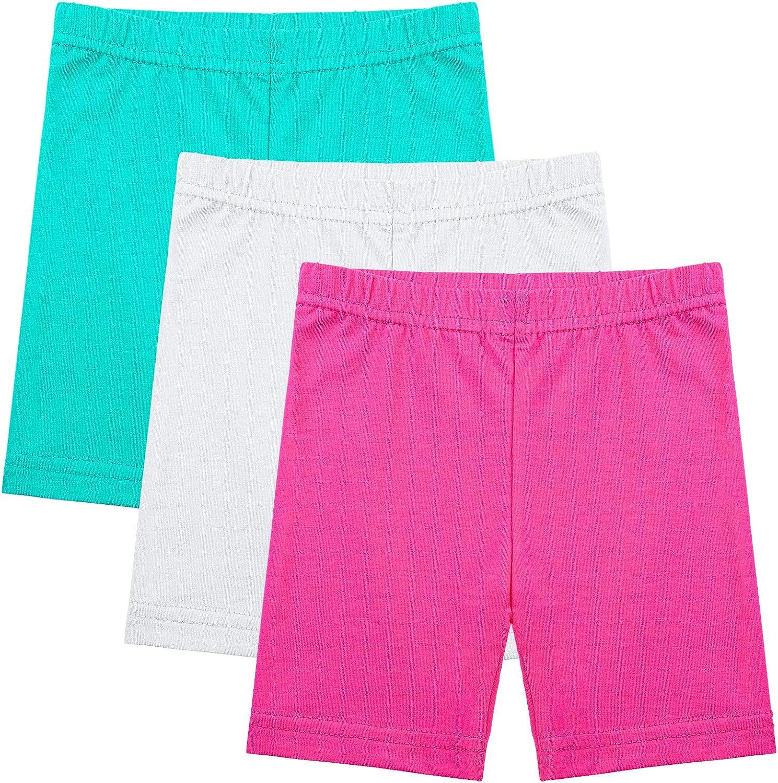 Ruisita 3 Pack Girls Dance Shorts Bike Shorts Long Shorts Breathable and Safety