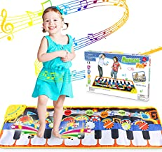 WOSTOO Alfombra para Piano, Alfombra de Teclado Táctil Musical Touch Juego Musical Portátil Electrónico Educativo Musical Tapete de Piano DE 19 Teclas para Bebé, Niño, Niña Regalo