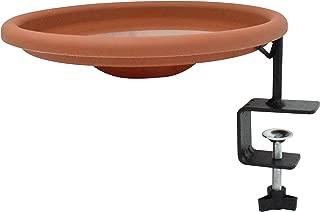 Gray Bunny GB-6876 Deck Mounted Songbird Spa with Lightweight Detachable Unheated Polypro Bird Bath Bowl and Heavy Duty Sturdy Clamp
