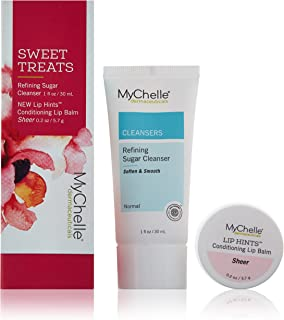 MyChelle Sweet Treats, a Festive, Hydrating Duo of Refining Sugar Cleanser for Radiant and Refined Skin, and a Sheer, 4-in-1 Lip Treatment to Nourish, Soothe, and Prime Lips