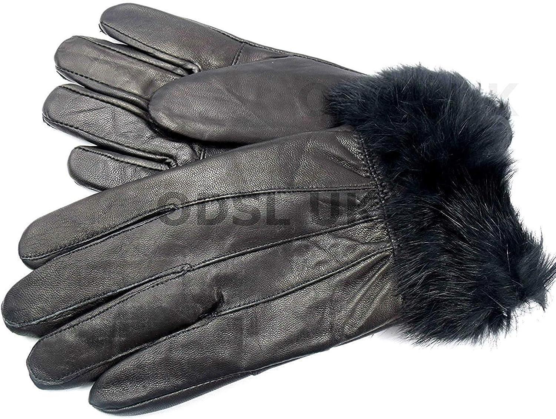 Unknown Soft Leather Gloves By Lorenz 8912 Medium Black