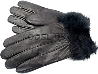 Ladies New Black Soft Leather Gloves By Lorenz 8912