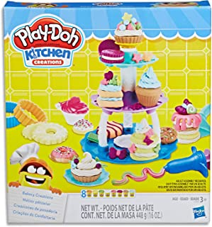 Play-Doh - Kitchen Creations - Bakery Creations Playset - Inc 19 Acc and 8 Tubs of Dough - Creative Kids Toys - Ages 3+