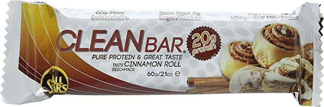 All Stars 60 g Cinnamon Roll Clean Bar High Protein Supplement – Pack of 18 Estimated Price : £ 44,63