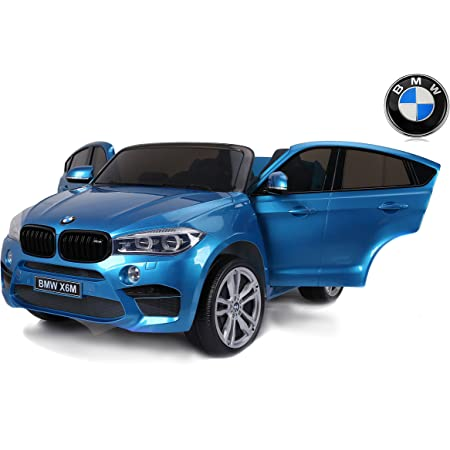 Children S Electric Car Bmw X6 M Blue Painted 2 X 120 W Two Seats In Leather