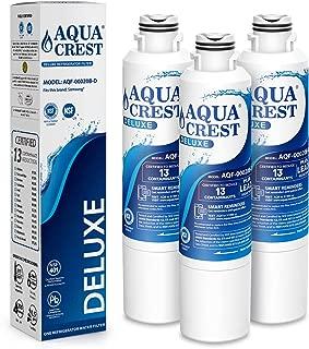 AQUACREST DA29-00020B Refrigerator Water Filter, NSF 401 Certified to Reduce 13 Contaminants, Compatible with Samsung DA29-00020A/B, HAF-CIN/EXP, Kenmore 46-9101, DA97-08006A, RF4287HARS (Pack of 3)