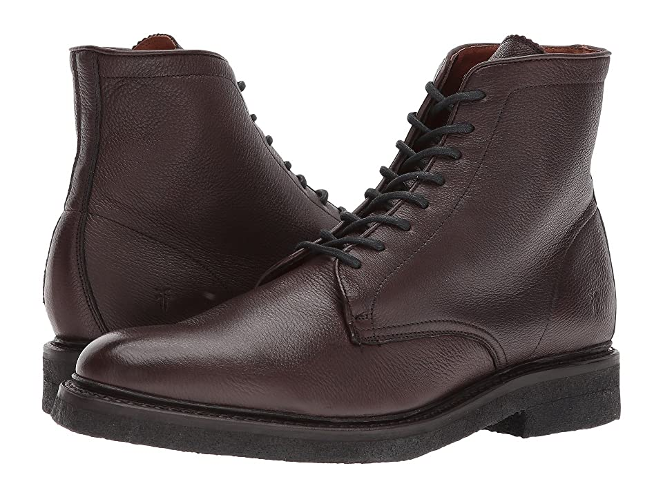 Frye Country Crepe Lace-Up (Dark Brown Deer Skin Leather) Men
