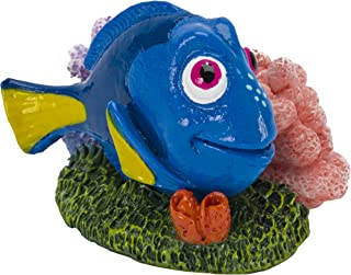 Penn-Plax - Officially Licensed Disney's Finding NEMO Aquarium Ornament - Dory with Pink & Purple Coral - Mini Sized 1.6