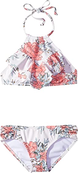 Billabong Kids - Nova Floral High Neck Set (Little Kids/Big Kids)