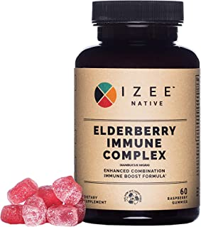 Vegan Elderberry Echinacea Propolis Gummy Supplement Non-GMO - Immune Boosting Formula with Vitamin C and Natural Flavors ...