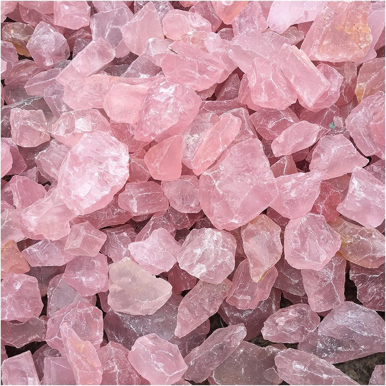 YSJJSQZ Crystal Rough Natural Pink Very popular Rose Quartz Regular discount Min