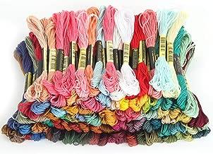 Embroidery Thread Floss Cotton Kit Rainbow 100 Color -Hand Cross Stitch Thread -DIY Bracelets String Craft Cord OS-ET