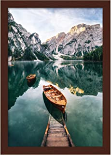 Americanflat 12x18 Poster Frame in Mahogany - Composite Wood with Shatter Resistant Glass - Wall Mounted Horizontal and Ve...