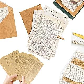 Canzoon Scrapbooking Papier Vintage 114Pcs Autocollant Vintage Retro Papier Décoratif Pour Album De Scrapbooking Artisana...