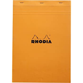 Rhodia Set of 10 Classic Standard Graph Notepads, Orange