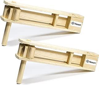 (2 Pack) Wooden Handmade Noisemaker Grogger, 15